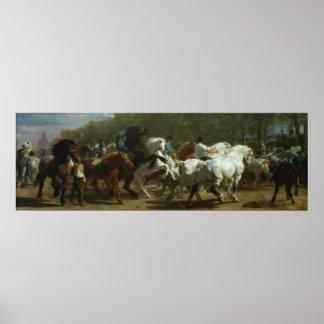 Poster La foire de cheval par Rosa Bonfeur