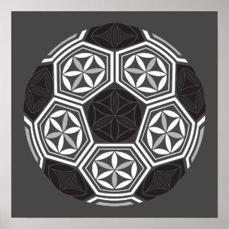 Poster la géométrie sacrée du football