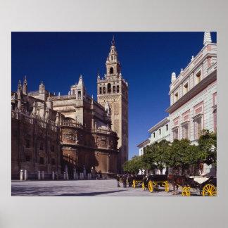 Poster La Giralda de Séville, Espagne |