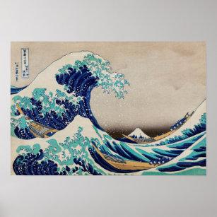 Poster La grande vague au large de Kanagawa