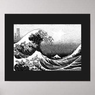 Poster La grande vague outre de Kanagawa (神奈川沖浪裏)