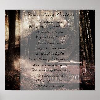 Poster La hantise pleure ~ par vie de poème de merveille