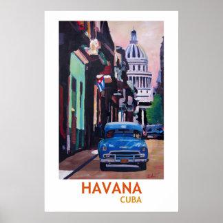 Poster La Havane Cuba - rétro affiche II de style
