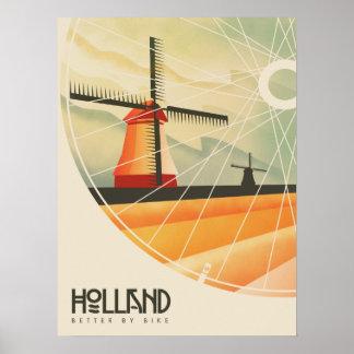 Poster La Hollande, meilleure en le vélo, affiche de