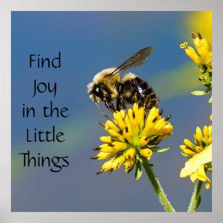 Poster La joie de découverte dans les petites choses