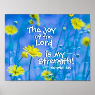 Poster La joie du seigneur est ma force, 8h10 de Nehemiah