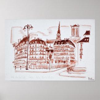 Poster La La citent et le Notre Dame de Paris   Paris,