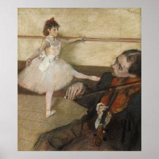 Poster La leçon de danse par Edgar Degas