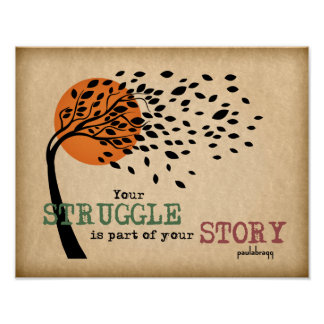 Poster La lutte fait partie de votre histoire : Citation