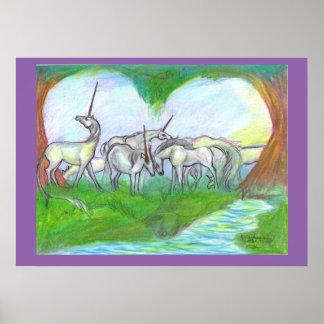 Poster La magie délicieuse du coeur de grâce de troupeau
