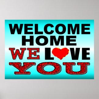 Poster La maison bienvenue nous vous aimons signe