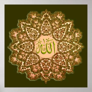 Poster La meilleure affiche de qualité de 99 noms d'Allah