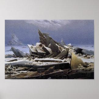 Poster La mer de la glace par Caspar David Friedrich