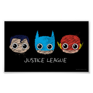 Poster La mini ligue de justice dirige le croquis