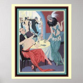 Poster La mode d'années '20 d'hurlement impriment 16 x 20