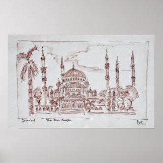Poster La mosquée bleue | Istanbul, Turquie