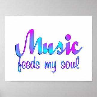 Poster La musique alimente mon âme