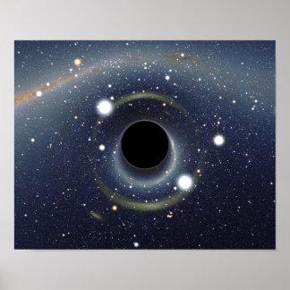 Poster La NASA d'anneau d'Einstein de trou noir