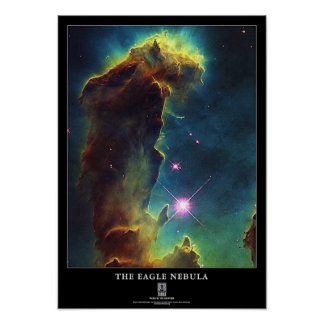 Poster La NASA d'IC 4703 de colonne d'Eagle