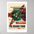 Poster La NASA - La visite grande - rétro affiche de