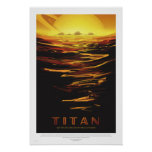 Poster La NASA - Rétro affiche de voyage de visite de