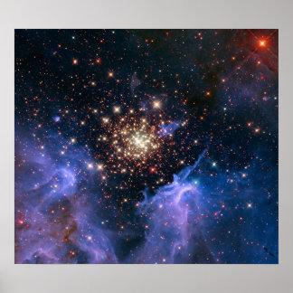 Poster La NASA superbe de groupe d'étoile de NGC 3603