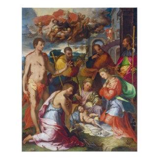 Poster La nativité, 1534 (huile sur le panneau)