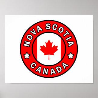 Poster La Nouvelle-Écosse Canada