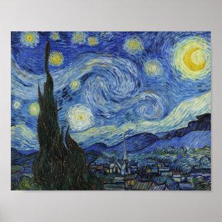 Poster La nuit étoilée par Van Gogh