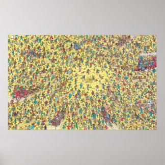 Poster Là où est la fièvre de l'or de Waldo |
