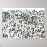 Poster Là où est le ski de Waldo incline