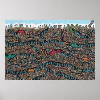 Poster Là où est les chasseurs souterrains de Waldo |