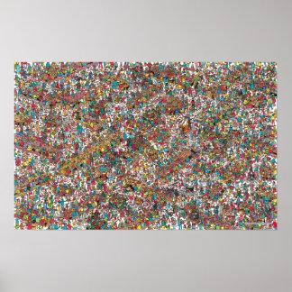 Poster Là où est les gloutons avaler de Waldo |