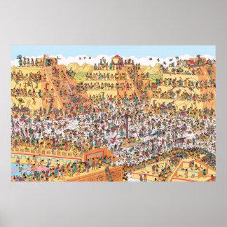 Poster Là où est Waldo | de derniers jours des Aztèques