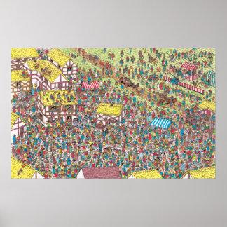 Poster Là où est Waldo | une fois sur samedi matin