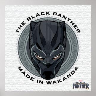 Poster La panthère noire | a fait dans Wakanda