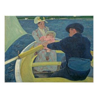 Poster La partie de canotage, 1893-94 (huile sur la