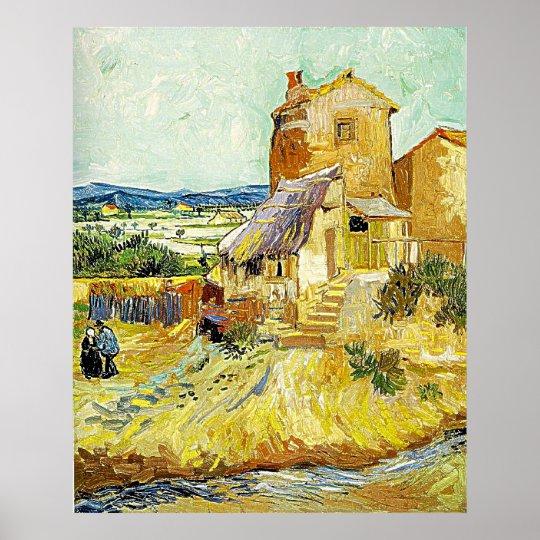 Poster la peinture de vincent van gogh le vieux moulin - Poster peinture ...