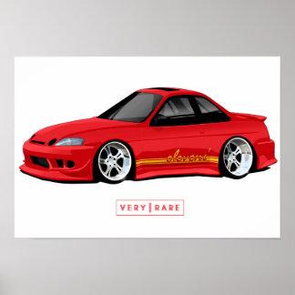 Poster La peinture d'Elevens et l'affiche de Lexus SC300