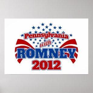 Poster La Pennsylvanie avec Romney 2012