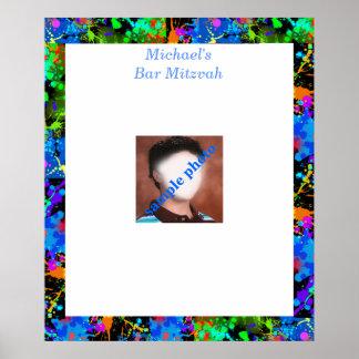 Poster La photo de Mitzvah de barre signent dedans le