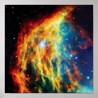 Poster La photo d'espace extra-atmosphérique de Hubble de