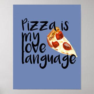 Poster La pizza est ma langue d'amour