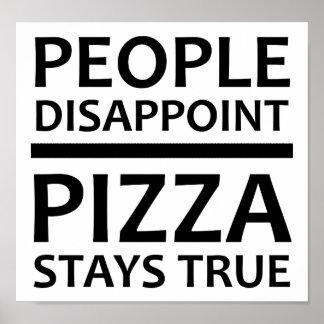Poster La pizza reste la véritable affiche drôle