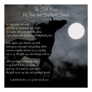 Poster La pleine lune, mon poème de ~ d'ami vrai et