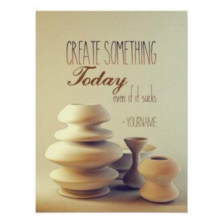 Poster La poterie créent quelque chose aujourd'hui même