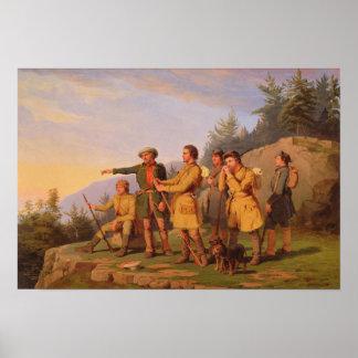 Poster La première vue de Boone du Kentucky