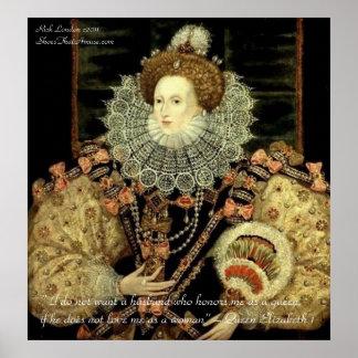 Poster La Reine Elizabeth 1 affiches de citation