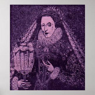 Poster La Reine Elizabeth I en lavande
