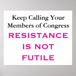 Poster La résistance du congrès d'appel n'est pas